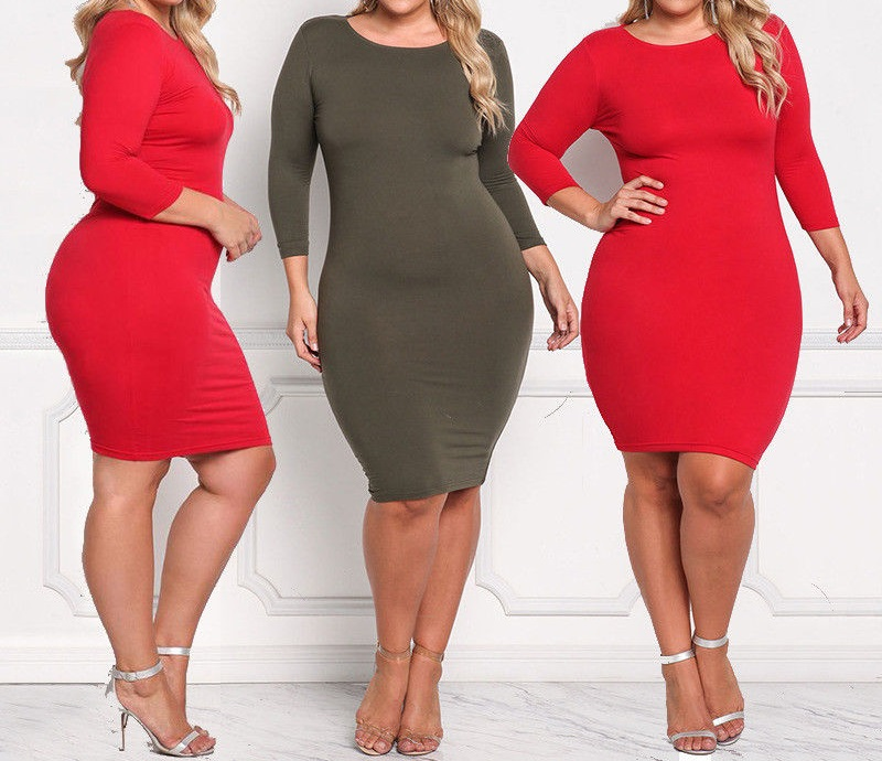 Ladies Womens Regular Plus Size Casual Evening Cocktail Long