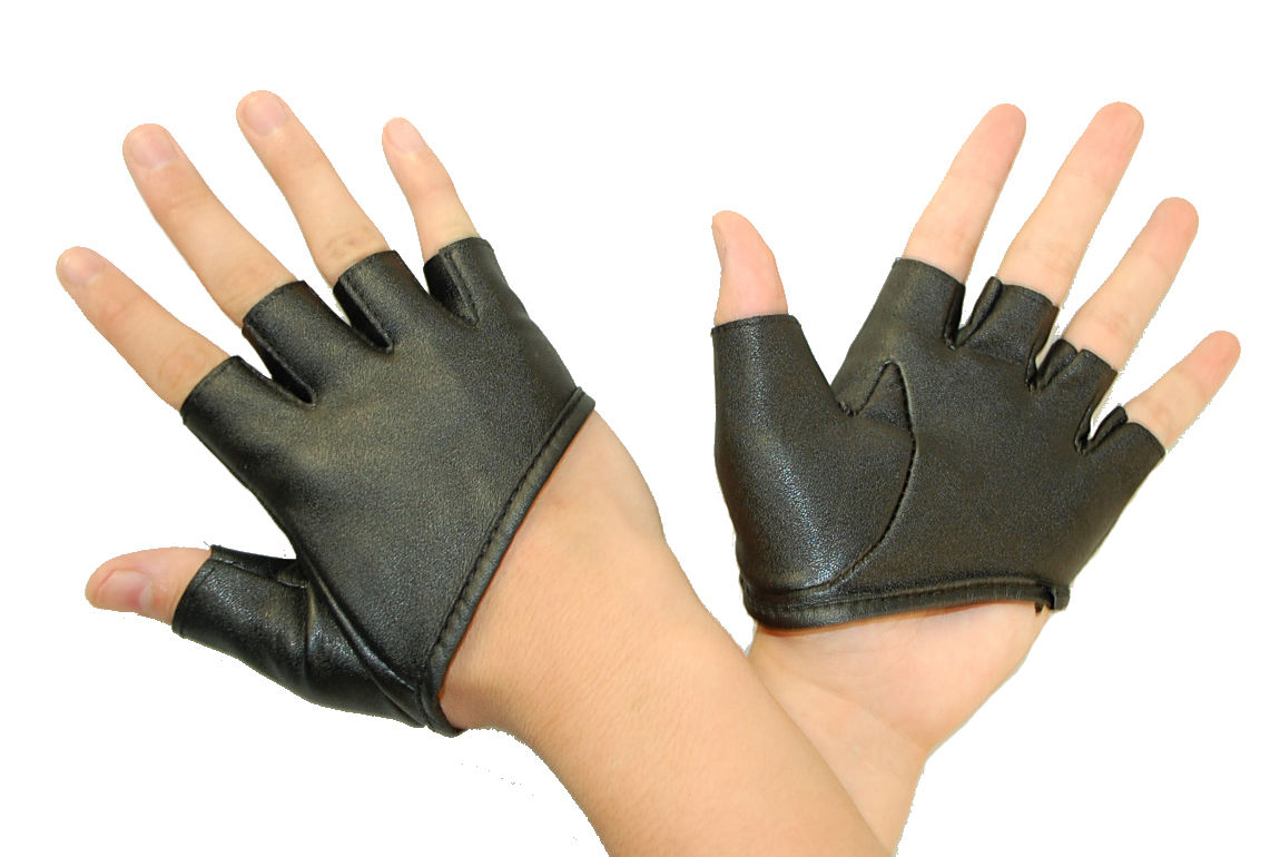 Mens Ladies Man Made Leather Half Palm Punk Rock Goth Rave Drivers Style Hand Gloves