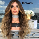 Curly Long Wavy Lace Front Synthetic Wig