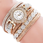 Ladies Womens Girls Rhinestone Crystal Bracelet Quartz Watch Jewelry
