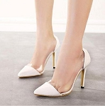 Ladies Womens High Kitten Transparent See Through Thru Casual Dressy Stiletto High Heel Shoes