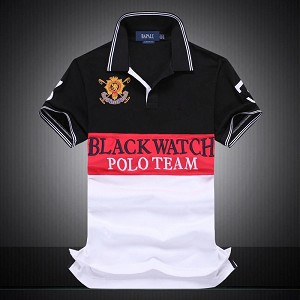 Mens Boys Black Watch Polo Short Sleeve Hip Hop Casual T-Shirt T Shirt